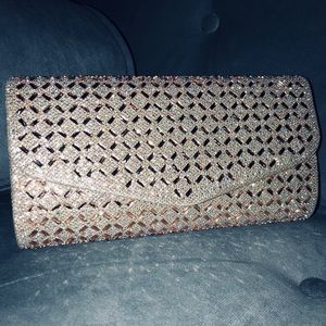 Handbags - Champagne Sequence Clutch Purse